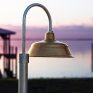 Outdoor Lighting Dilemma Solved with Brass & Copper Post Mount Lights