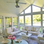 Featured Customer | Galvanized Fans, Gooseneck Light Offer Eclectic Look to Porch