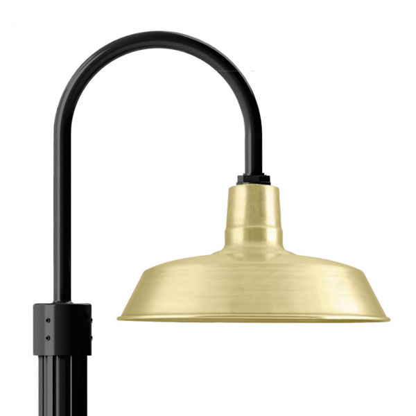 Barn Light Pole: Outdoor Lighting Dilemma Solved With Brass & Copper Post
