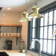 Featured Customer | Mid Century Kitchen Remodel Features Classic Brass Pendants