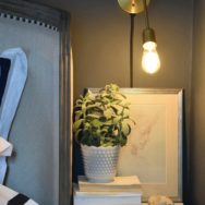Professional's Corner | Brass Wall Sconces Offer Dramatic Style in Tight Space