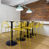 Featured Customer | Colorful Industrial Barn Lights Elevate Mood in Shared Office Space