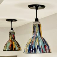 Professional's Corner | Pendant Lights Bring Playful Color to Kids' Art Space