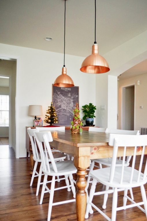 copper light fixtures kitchen featured customer copper pendants visually anchor open 5802