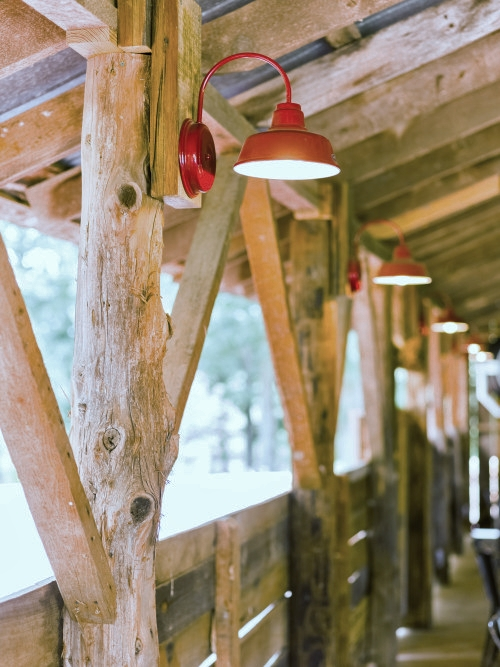Vintage Inspired Barn Lights Right At Home Down On The