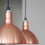 Featured Customer | Copper Pendants Visually Anchor Open Floor Plan