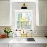 Featured Customer | Brass Schoolhouse Lighting Suits 1930s-Era Kitchen