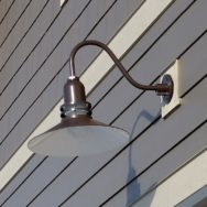 Featured Customer | Gooseneck Barn Lights Blend Vintage and Modern for New Garage