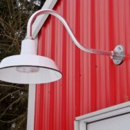 Featured Customer | Porcelain Gooseneck Light Pops Vintage Style on New Barn