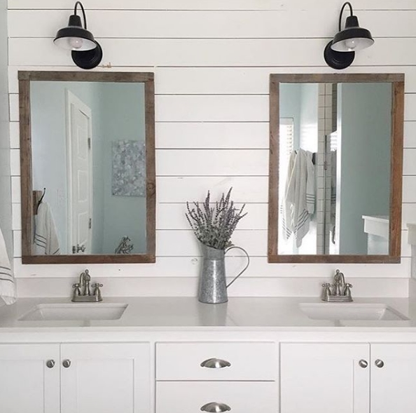Barn Light Bathroom Vanity: Bathroom Lighting Inspiration Courtesy Of Instagram