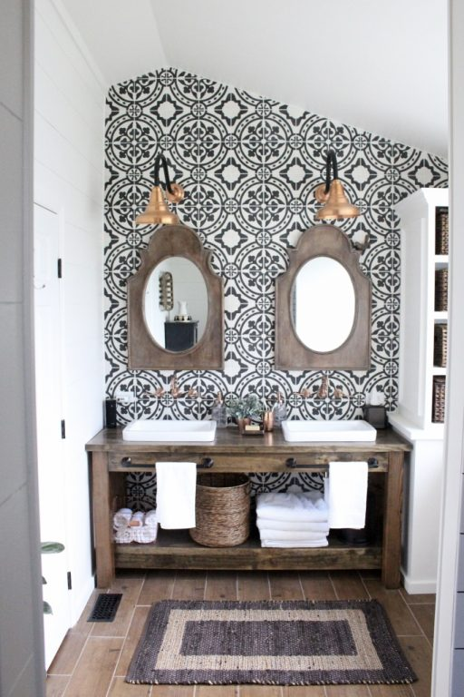 Black Modern Farmhouse Bathroom Light
