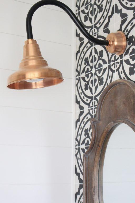 copper gooseneck lighting