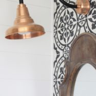 Featured Customer | Copper Gooseneck Lights Give Bath Reno a Spa Feel
