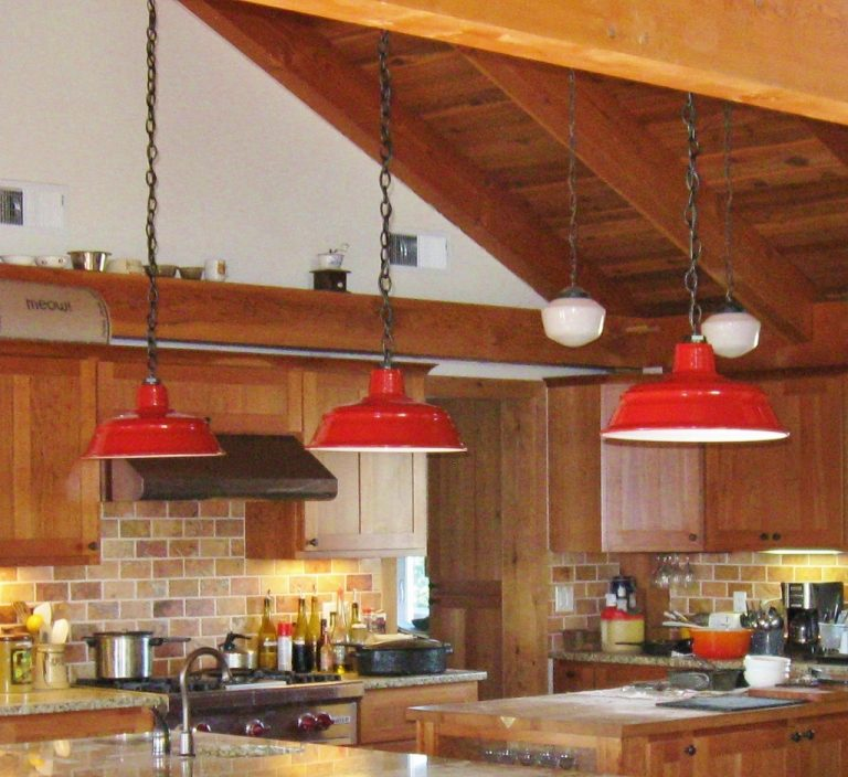 barn lights kitchen
