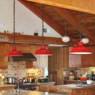 Featured Customer | Classic Barn Lights for New Timber Frame