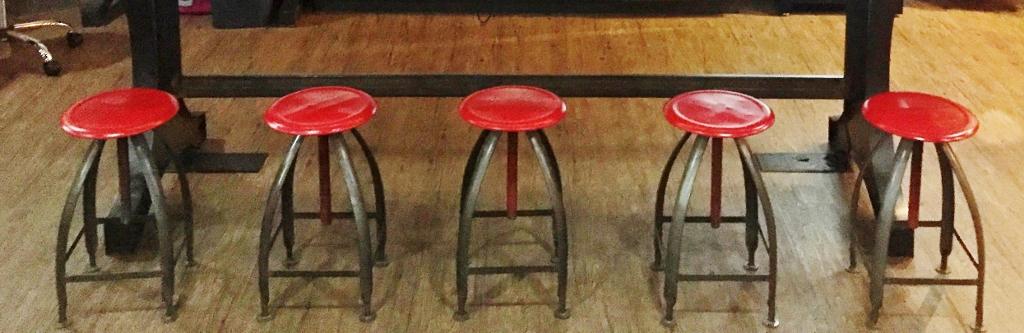 industrial metal stools
