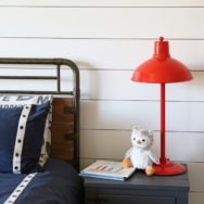 Featured Customer | Orange Table Lamps Offer Colorful Industrial Pop
