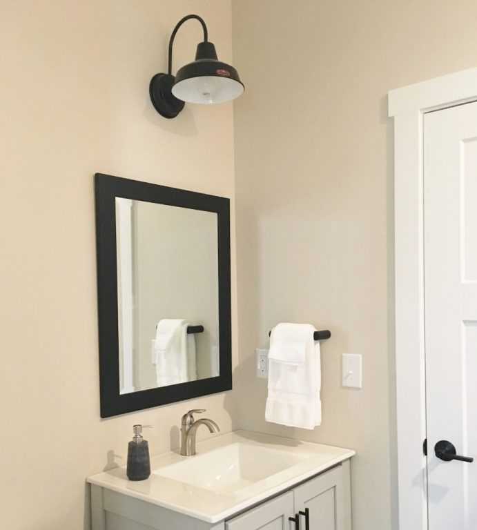 Barn Light Bathroom Vanity: Homeowner Taps Barn Lighting For Simplicity, Classic Style