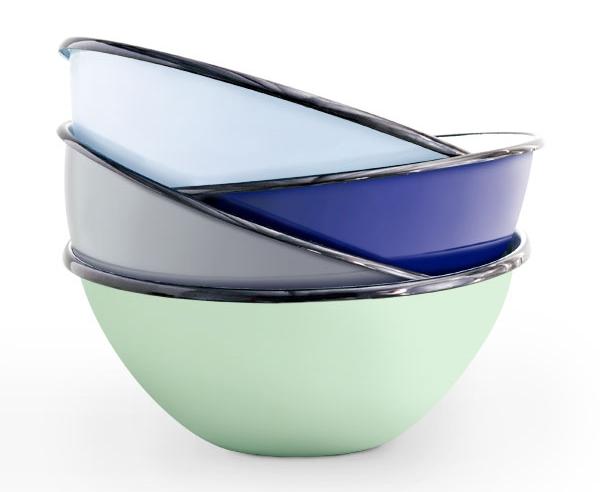 porcelain enamel bowls