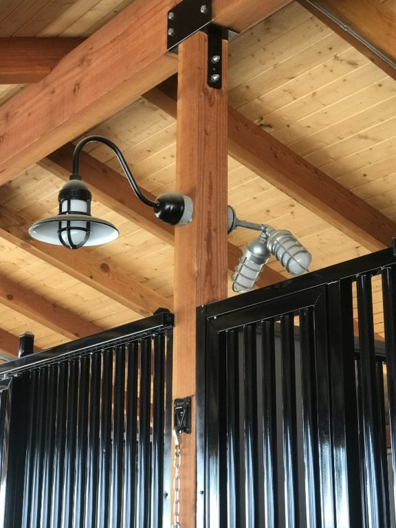These Unique Wall Sconces Shown Above Behind The Brisbane Gooseneck Light Allow Eddy To Illuminate 14 Stalls With Only Seven Fixtures