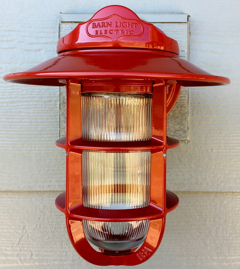 red wall sconce light