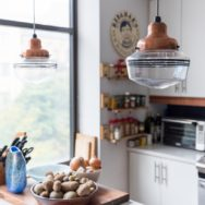 Pro's Corner | Copper Schoolhouse Lighting Offers Upscale Touch in NYC Apartment