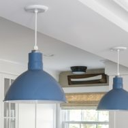 Pro's Corner | Custom Blue Finish Adds Coastal Feel to Kitchen Pendants