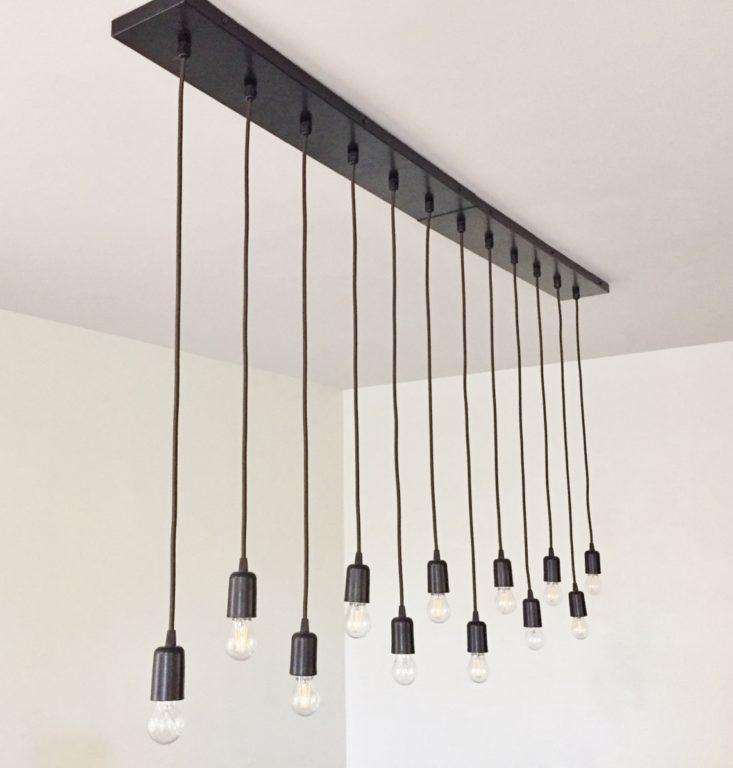 bare bulb chandelier