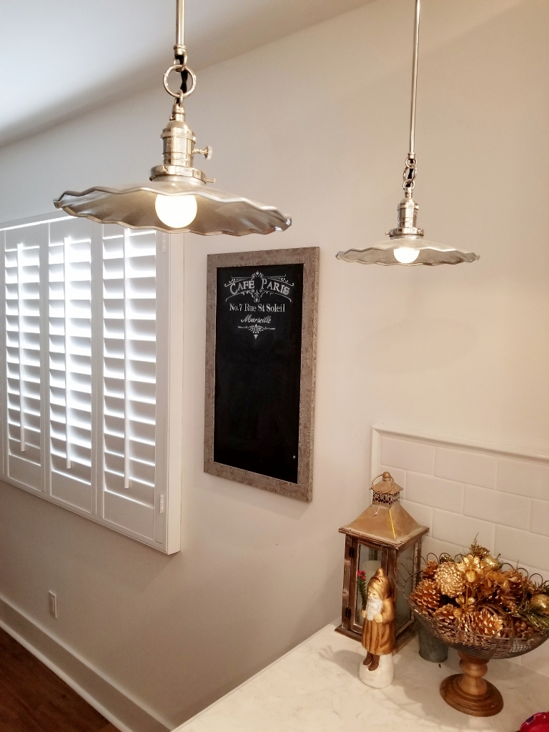 Fluted Shade Pendants Add Fun To Kitchen Reno