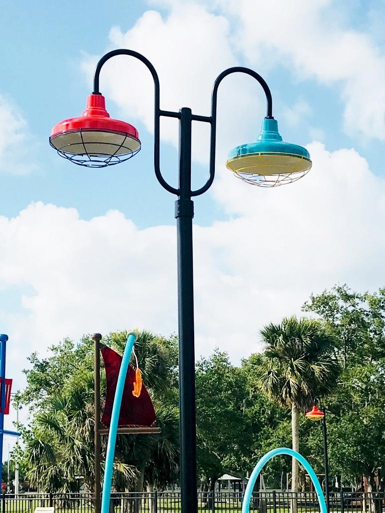 exterior post mount lighting