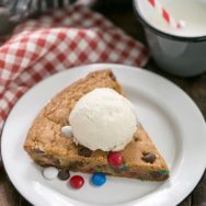 Celebrate the 4th with a Patriotic Skillet Cookie!