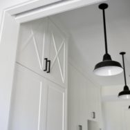 Featured Customer | Barn Pendants Highlight Busy Farmhouse Mudroom