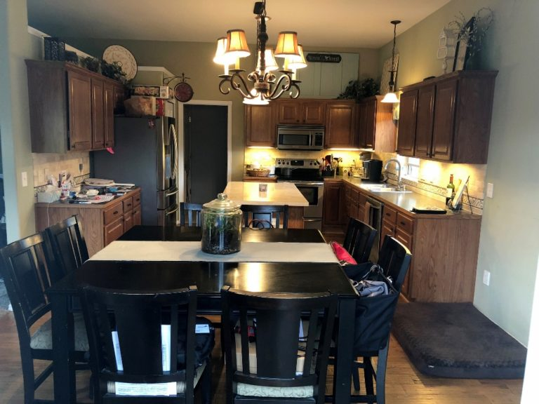 kitchen lighting before
