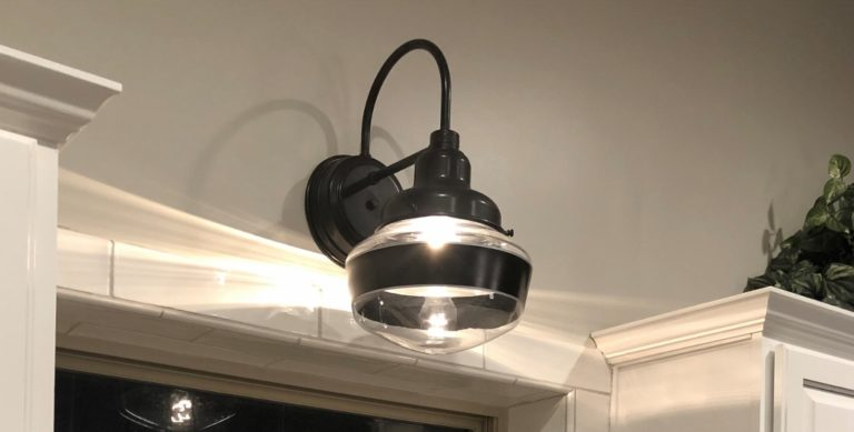 schoolhouse wall sconce