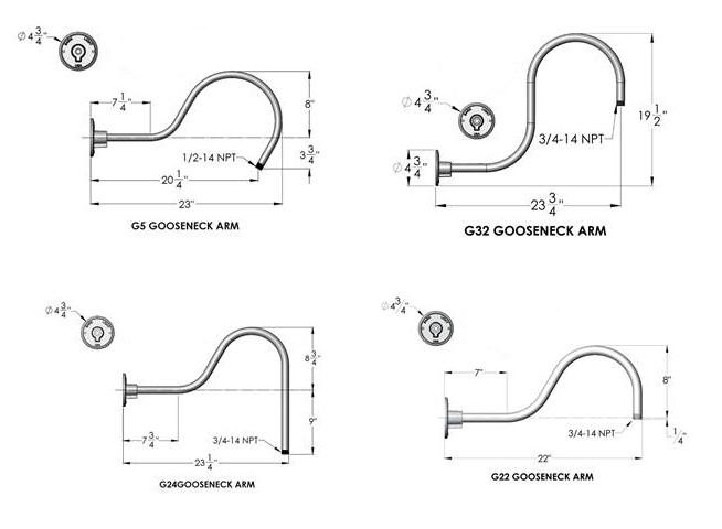 Gooseneck Arm Options