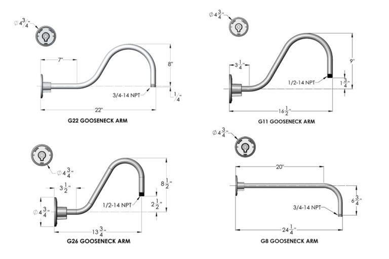 gooseneck arm styles