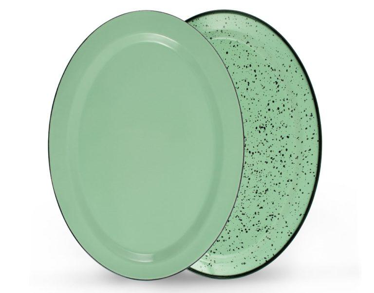 porcelain graniteware platter