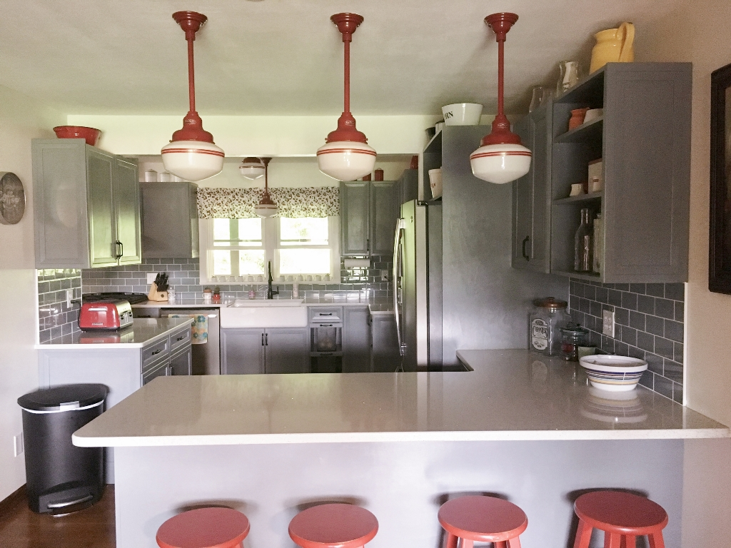 Schoolhouse Lighting Adds Pop of Color, Retro Style ...